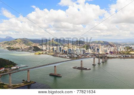 Third Bridge (terceira Ponte), View Of Vitoria, Vila Velha, Espirito Santo, Brazil