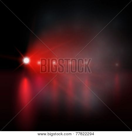 Light show. red Vector illustration.