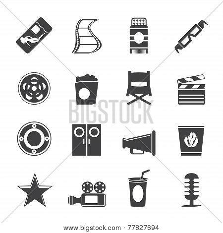 Silhouette Simple Cinema and Movie Icons
