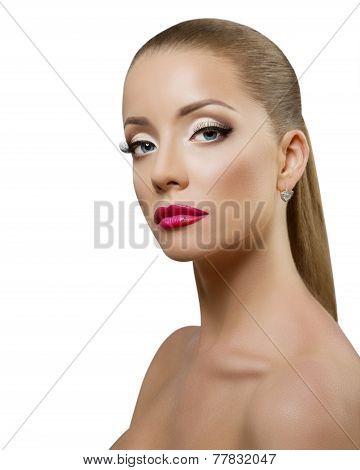 Beauty Woman Portrait. Professional Makeup
