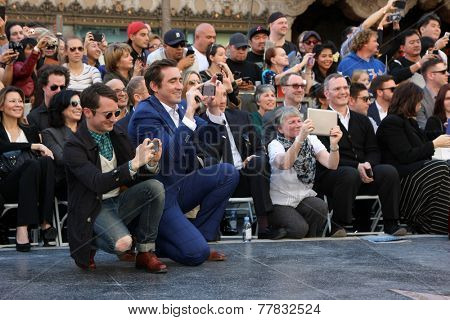 LOS ANGELES - DEC 8:  Elijah Wood, Lee Pace at the Peter Jackson Hollywood Walk of Fame Ceremony at the Dolby Theater on December 8, 2014 in Los Angeles, CA
