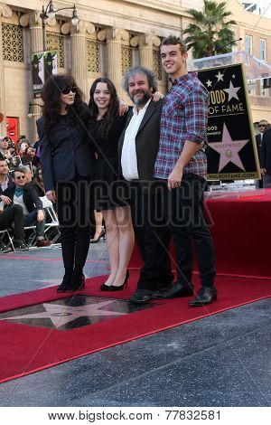 LOS ANGELES - DEC 8:  Peter Jackson, family at the Peter Jackson Hollywood Walk of Fame Ceremony at the Dolby Theater on December 8, 2014 in Los Angeles, CA