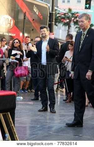 LOS ANGELES - DEC 8:  Andy Serkis at the Peter Jackson Hollywood Walk of Fame Ceremony at the Dolby Theater on December 8, 2014 in Los Angeles, CA