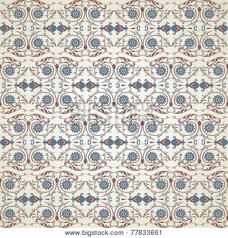 Vector seamless floral pattern in Victorian style.