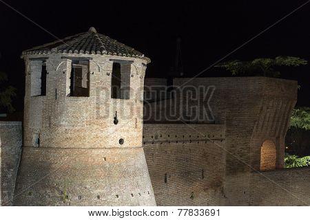 Mondavio (marches, Italy) By Night