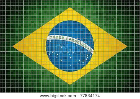 Mosaic Flag of Brazil