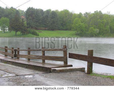 Floating Bridge in Rain