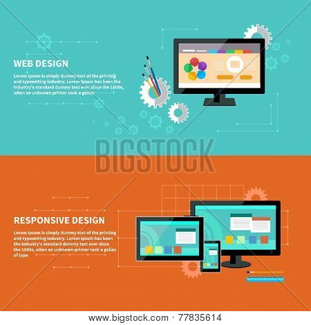 Responsive and web design concept