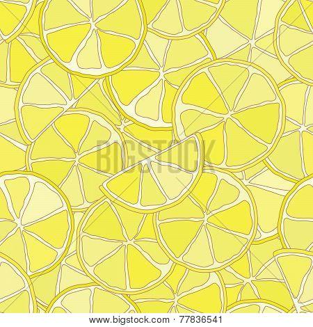 Fresh lemon citrus seamless pattern