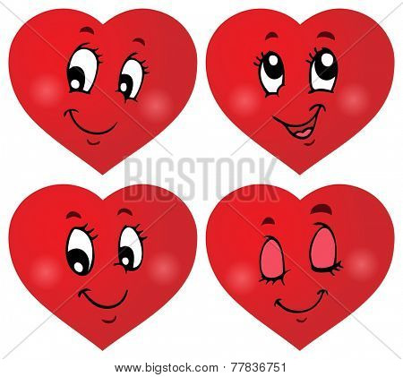 Valentine hearts thematic set 3 - eps10 vector illustration.