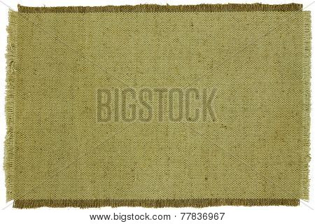Texture Of Green Coarse Cloth