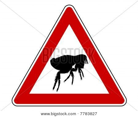 Flea Warning Sign