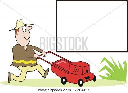 Lawnmower cartoon