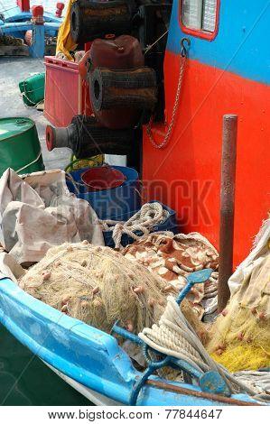 Still life of fishing boat