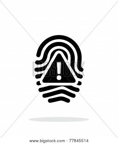 Fingerprint scan error icon on white background.
