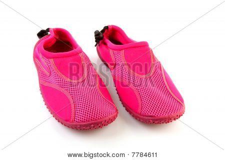 Sapatos de água-de-rosa