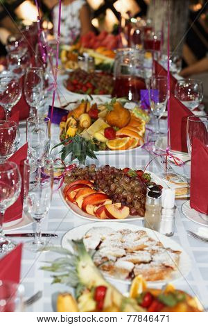 Beautifully Banquet Table With Dessert