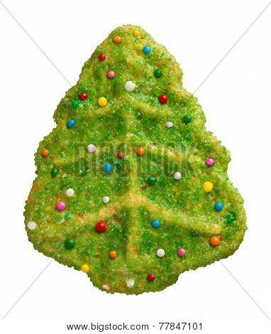 Green Christmas Tree Cookie