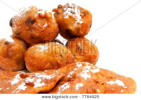 Dutch Donut Also Known As Oliebollen And Apple Turnovers
