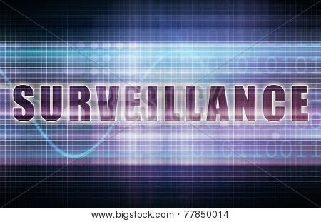 Surveillance on a Tech Business Chart Art