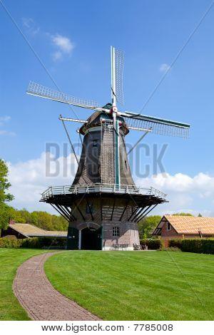 Dutch Windmill Near Village Appel