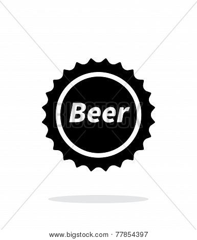 Beer bottle cup simple icon on white background.