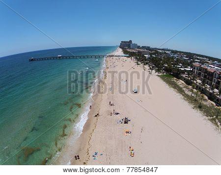 Beach Scenery Aerial View
