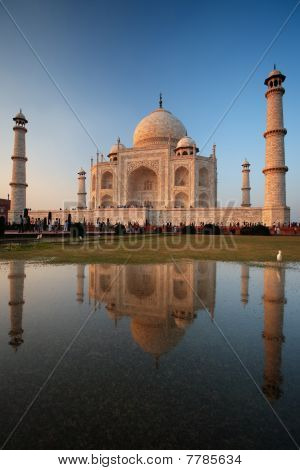 Taj Mahal Sunset Reflection