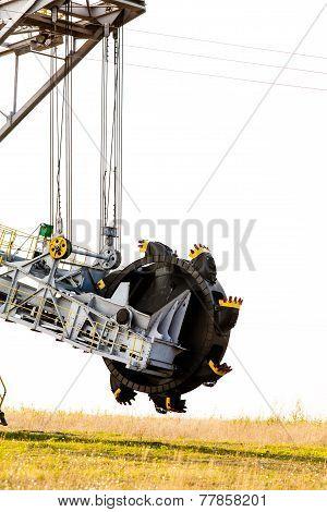 Opencast Brown Coal Mine Bucket Wheel Excavator