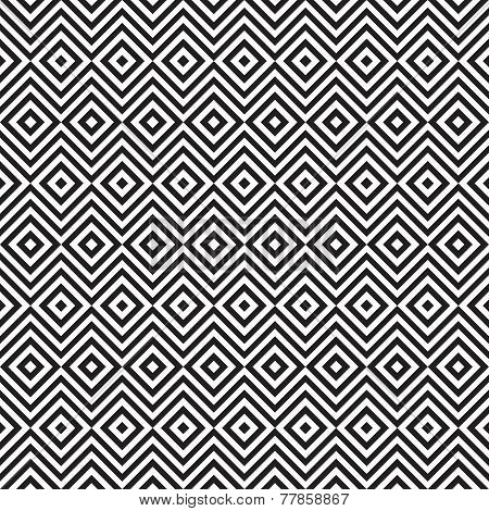 Ethnic tribal zig zag and rhombus seamless pattern.
