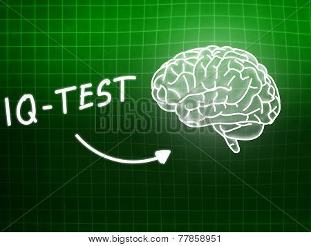 Iq Test  Brain Background Knowledge Science Blackboard Green