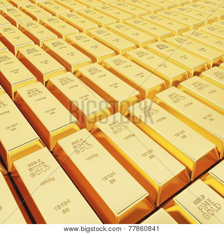 Lots of gold bars