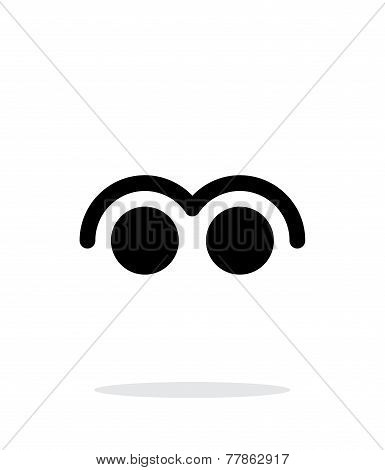 Two Finger tap gesture abstract icon.