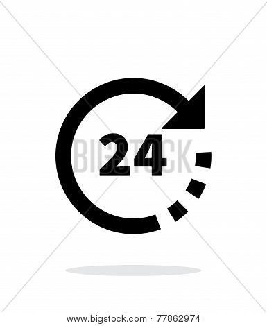 Round-the-clock icon on white background.
