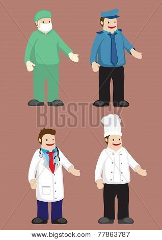Work Attire For Professionals Vector Illustration