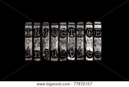 Injustice Concept