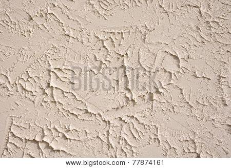 Decorative Relief Ecru Plaster Closeup