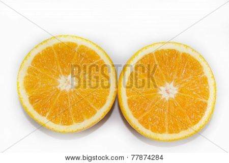 half of oranges
