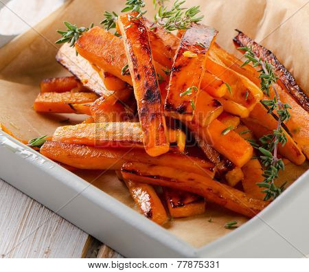 Sweet Potato Fries With Fresh Herbs