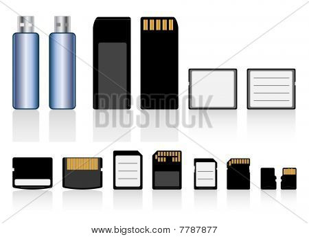 Memory cards, drive collection