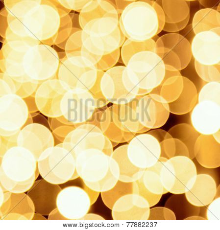 Abstract golden lights background