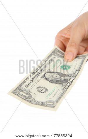 pay a U.S. 1 doller  bill