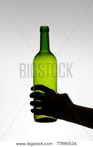 Female Hand Holding A Bottle