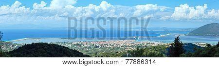 Sea Coast Panorama (greece, Ionian Sea).
