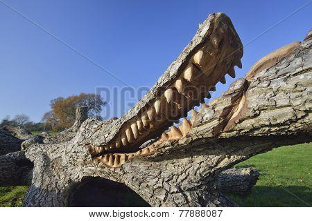 Crocodile Sculpture