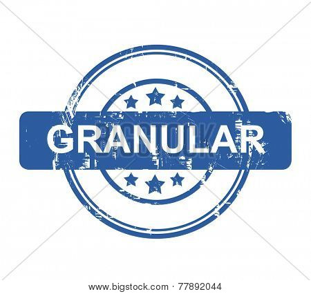 Granular business concept stamp with stars isolated on a white background.