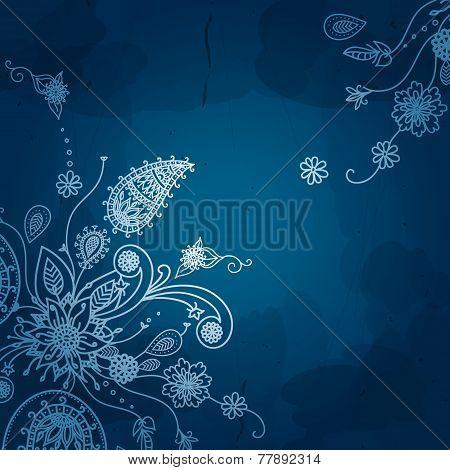 Flower vector background. Vintage floral card. Vintage backgroun