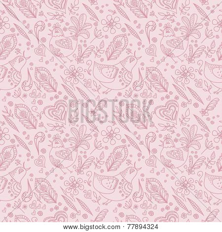 Seamless pattern. Vector design template. Abstract pink backgrou