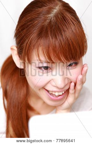 woman with good condition skin