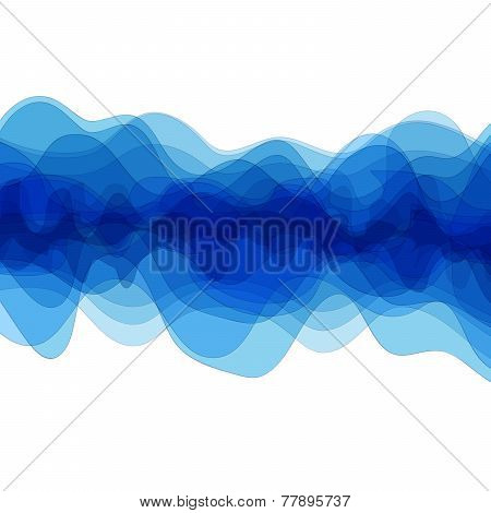 White background with blue design elements. Abstract background.